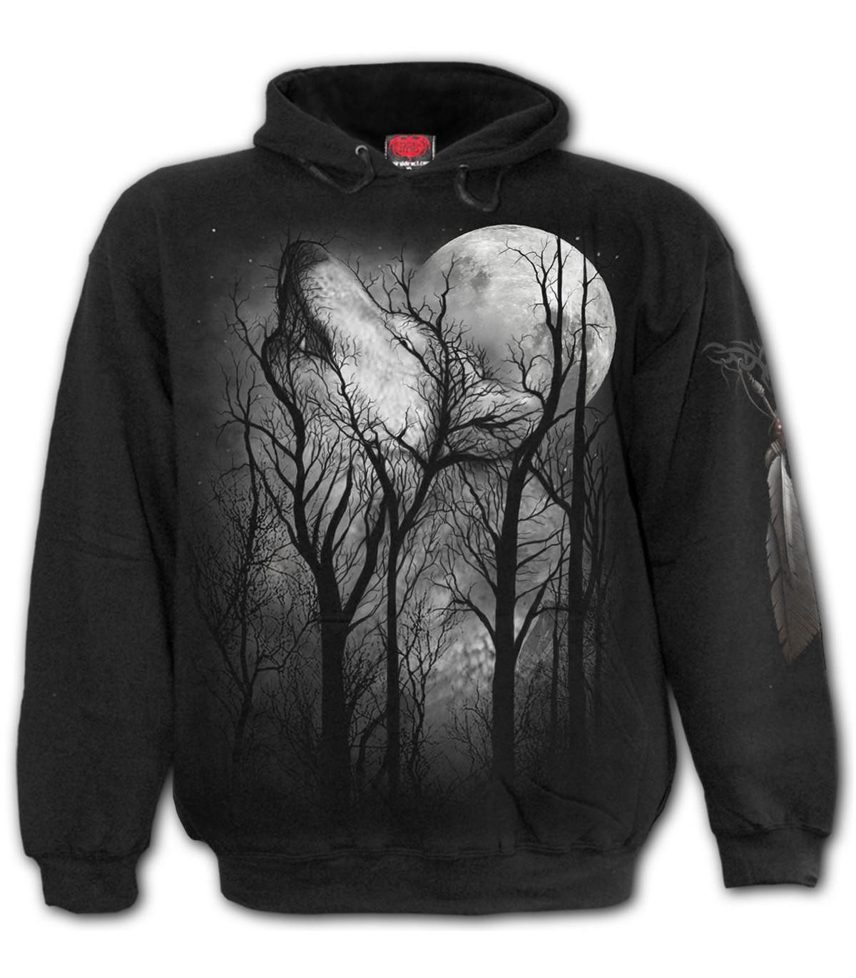 FOREST WOLF Sweat à capuche noir (Nature)