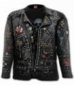GOTH METAL - Allover Longsleeve T-Shirt Black